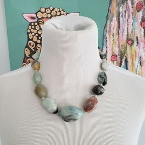 Anthology Stone and Silver Statement Necklace